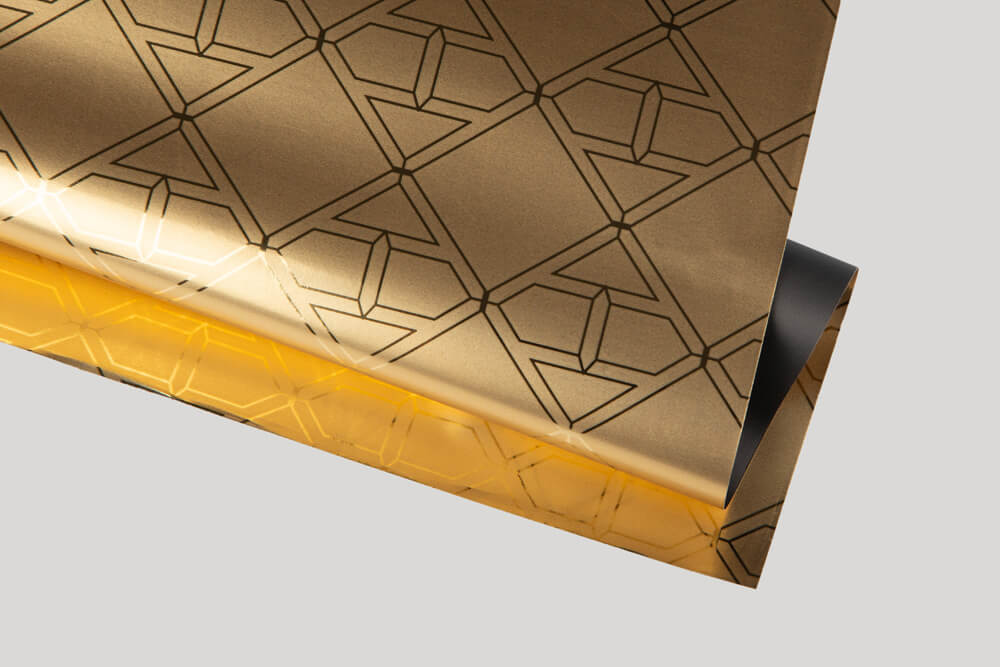 Bespoke wrapping paper with logo - METALLISED PAPER