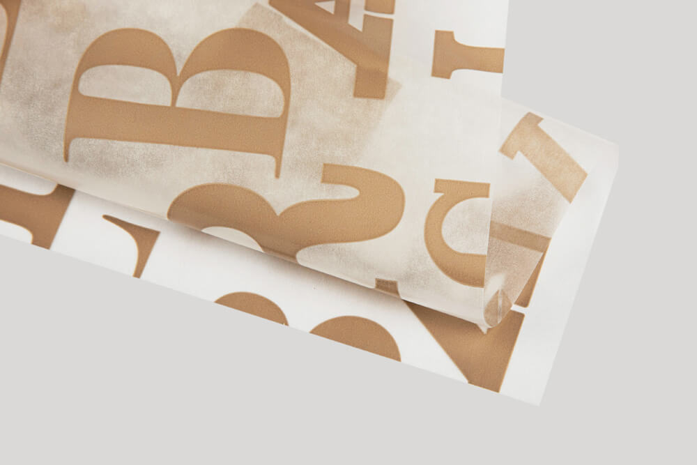 Bespoke wrapping paper with logo - PARAFFIN PAPER