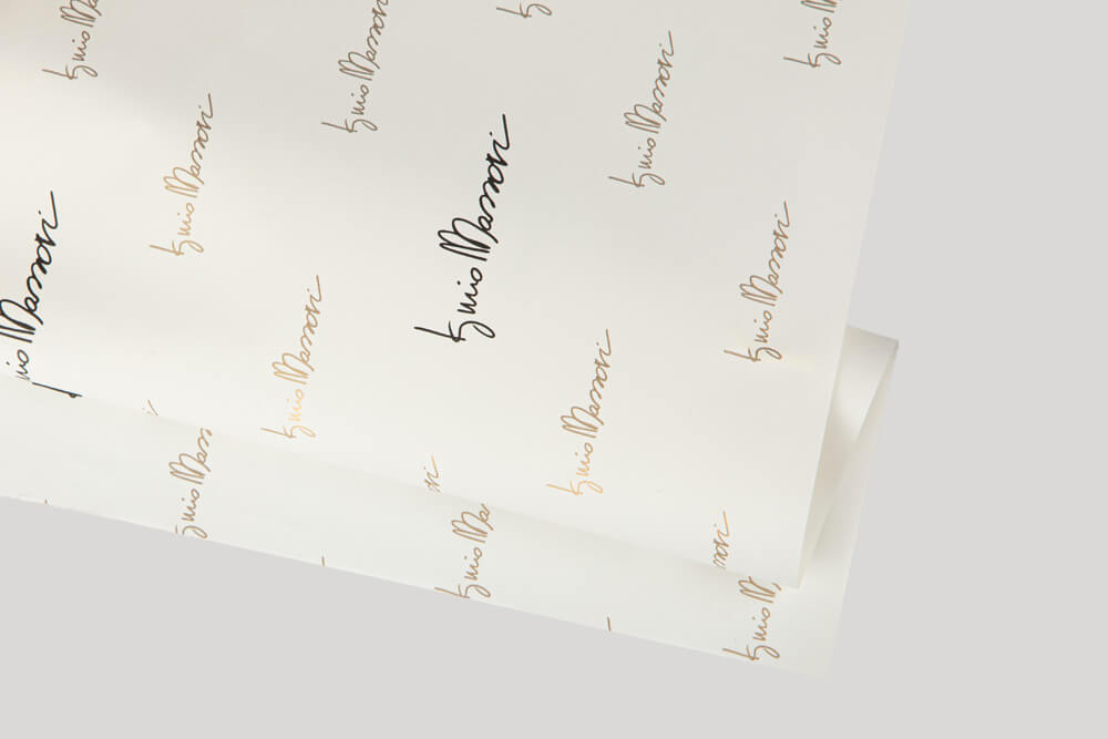 Bespoke wrapping paper with logo - ONIONSKIN PAPER