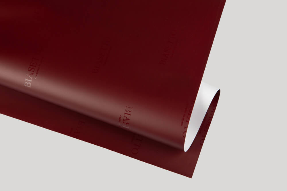 Bespoke wrapping paper with logo - PLASTIC-COATED PAPER