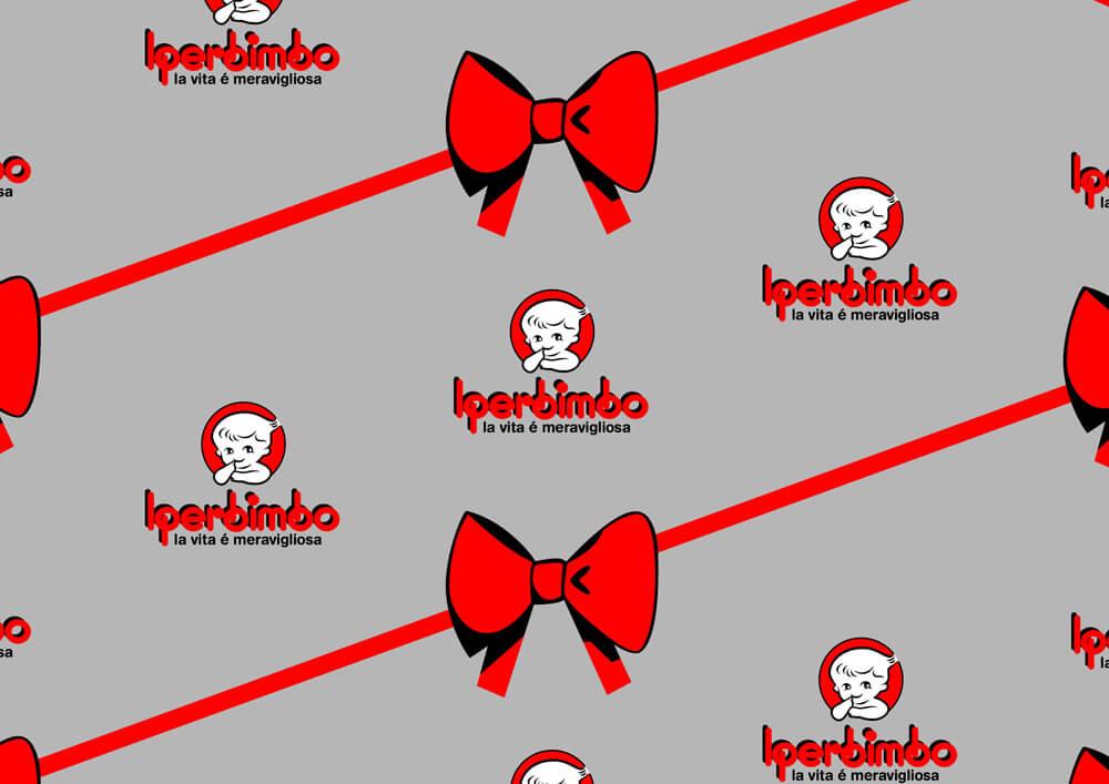 Carta patinata - carta da pacchi personalizzata con logo IPERBIMBO