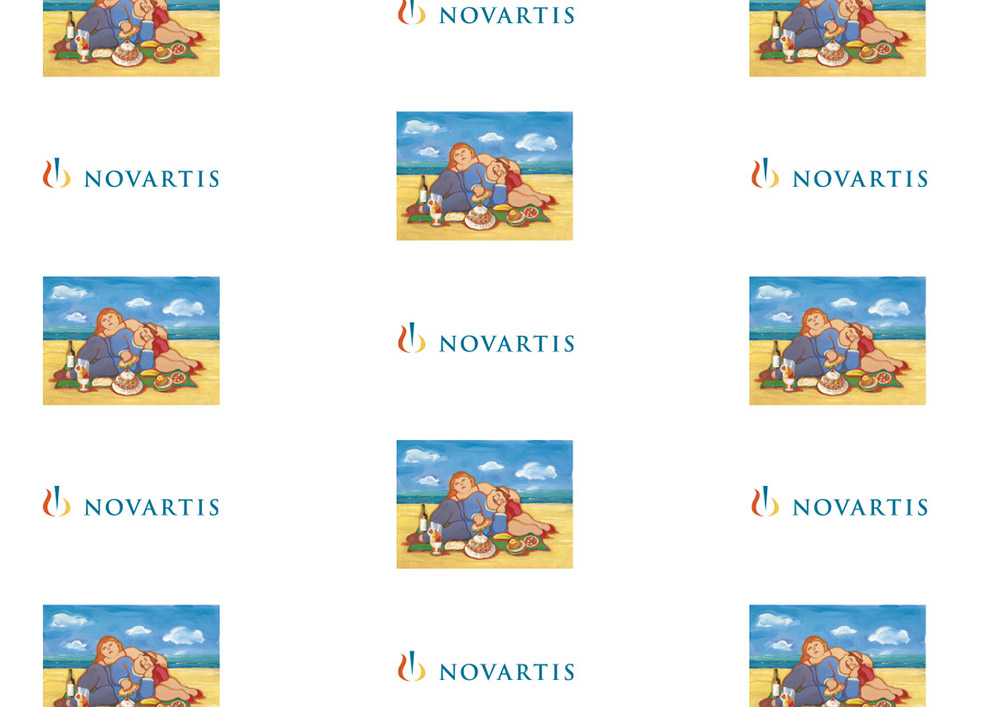Carta da banco personalizzata - carta imballaggio medicinali personalizzata Novartis