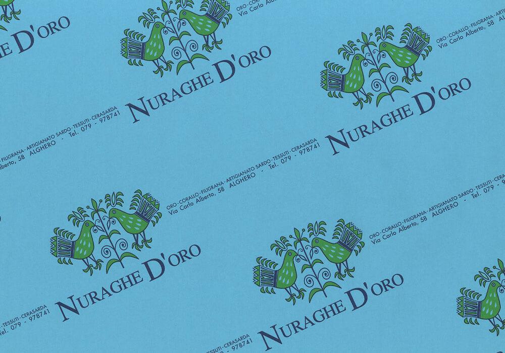 carta kraft - sacchetti carta kraft personalizzata con logo NURAGHE D'ORO