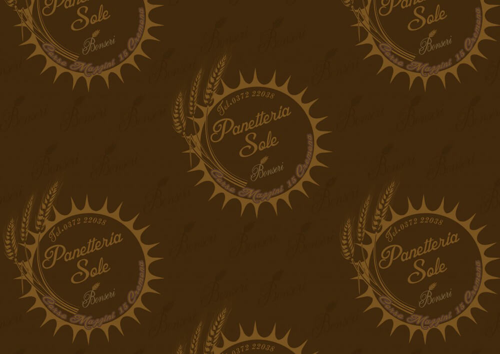 Tissue paper for wrapping food - Custom printed food wrapping paper with logo PANETTERIA SOLE