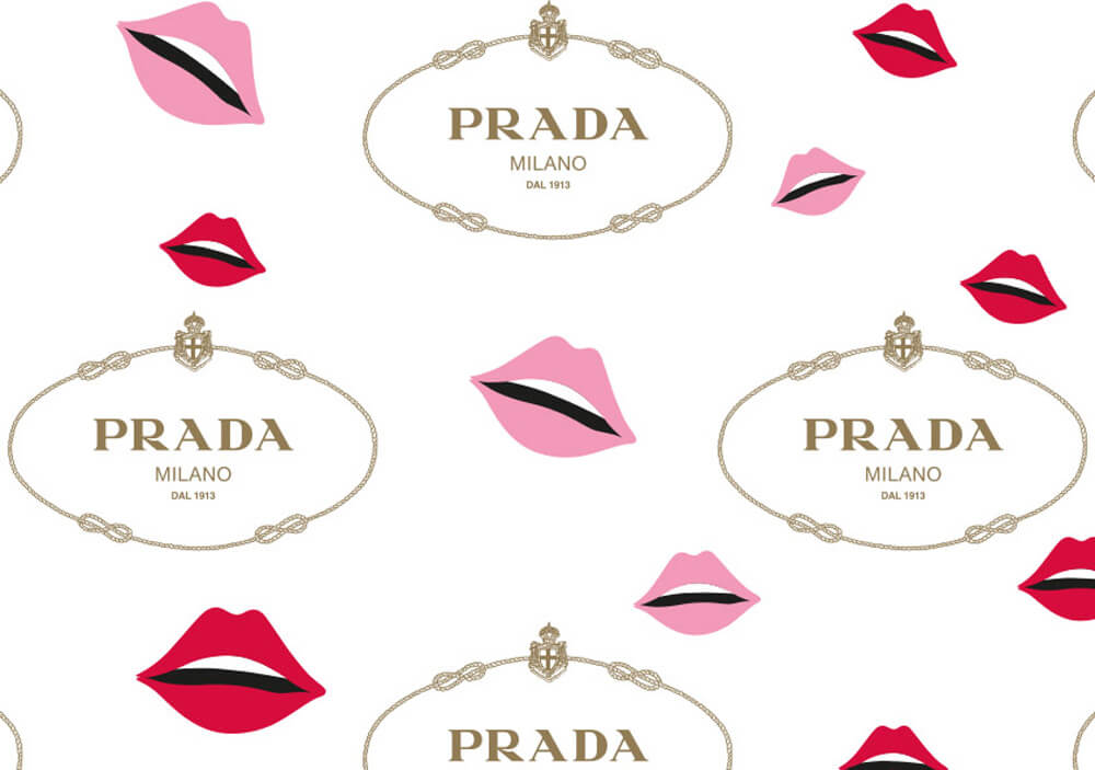 tissue paper clothing wrapping packaging - custom tissue paper to wrap clothing with logo PRADA