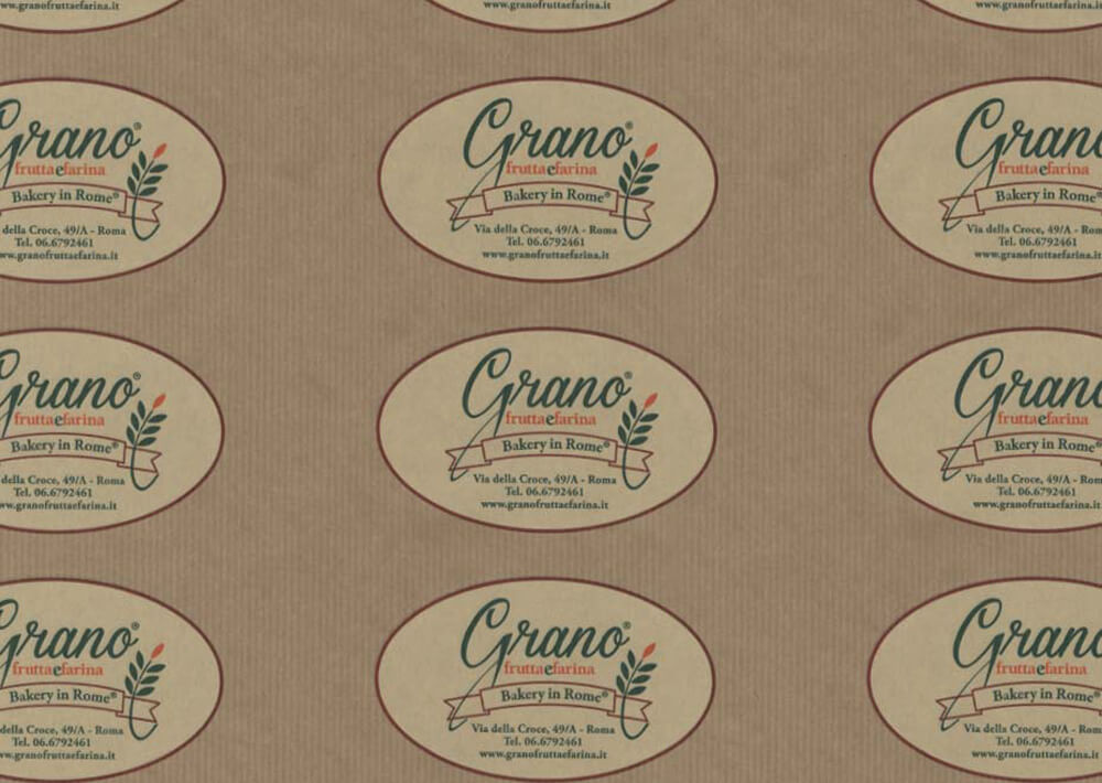 Tissue paper for wrapping food - Custom printed food wrapping paper with logo GRANO