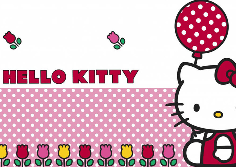 Bespoke gift wrapping paper with logo HELLO KITTY