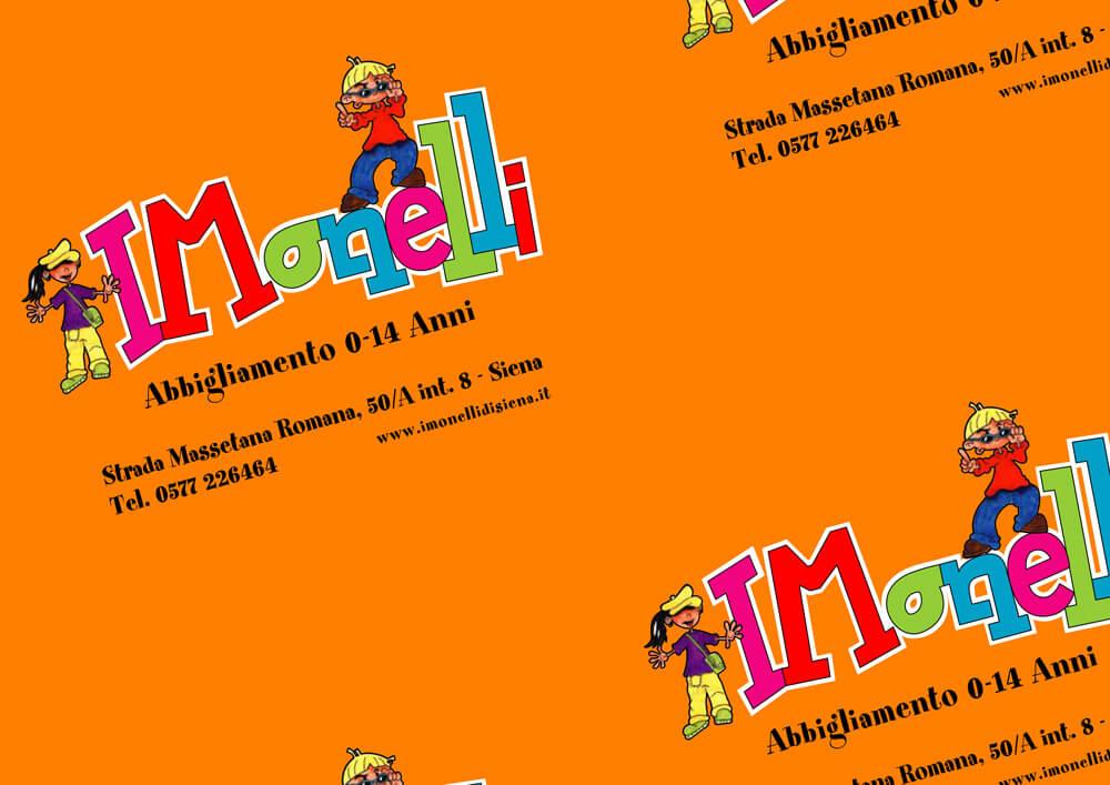 carta monopatinata personalizzata con logo I MONELLI