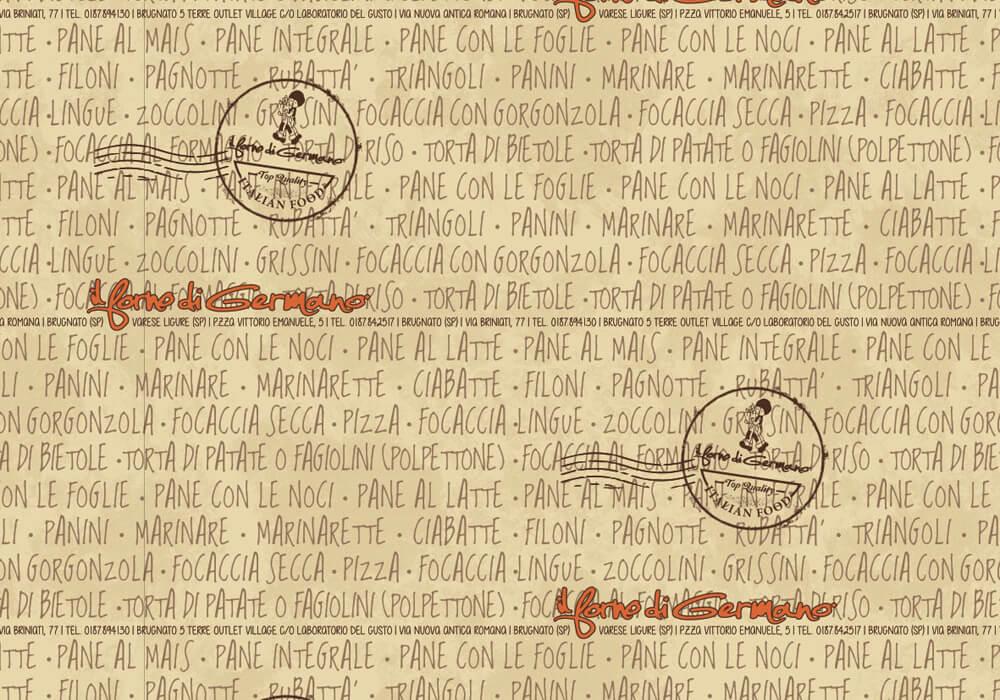 Carta politenata - carta politenata personalizzata con logo IL FORNO DI GERMANO