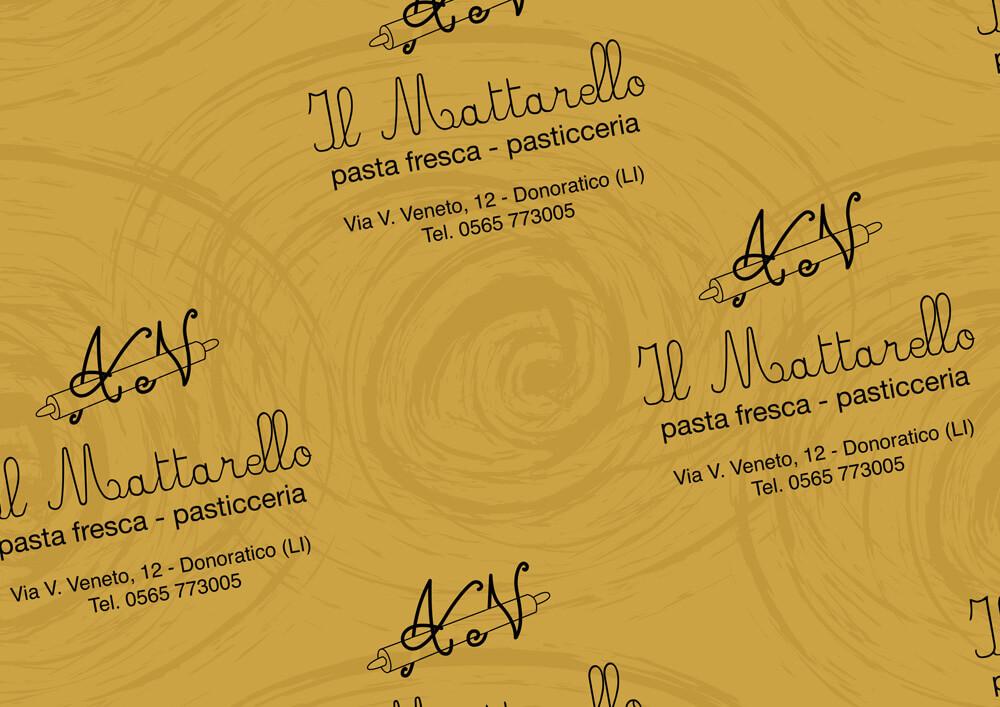 carta metallizzata per imballaggio prodotti personalizzata con logo IL MATTARELLO