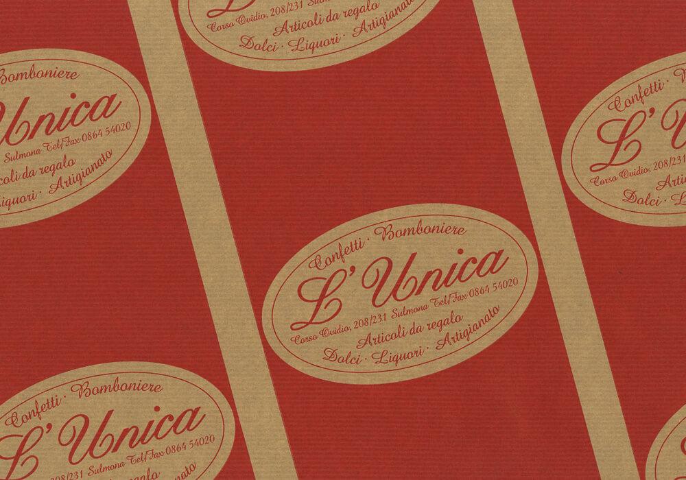 Carta sealing - carta sealing personalizzata con logo UNICA
