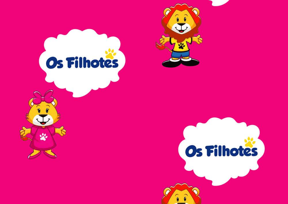 Carta patinata - carta da pacchi personalizzata con logo OS FILHOTES