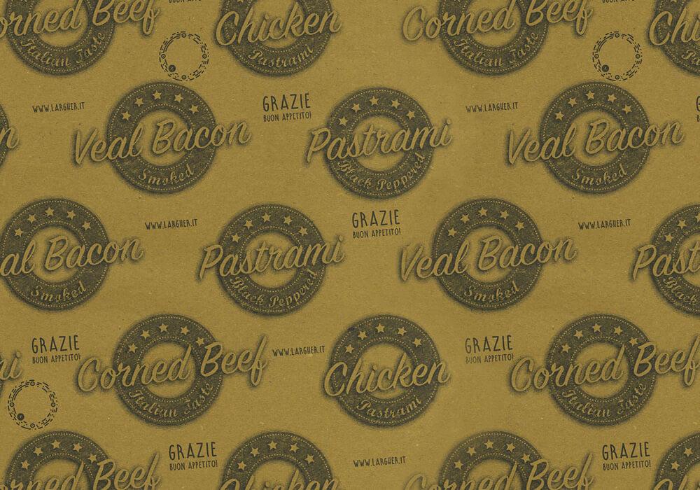 Carta paglia per alimenti - carta paglia personalizzata con logo PASTRAMI