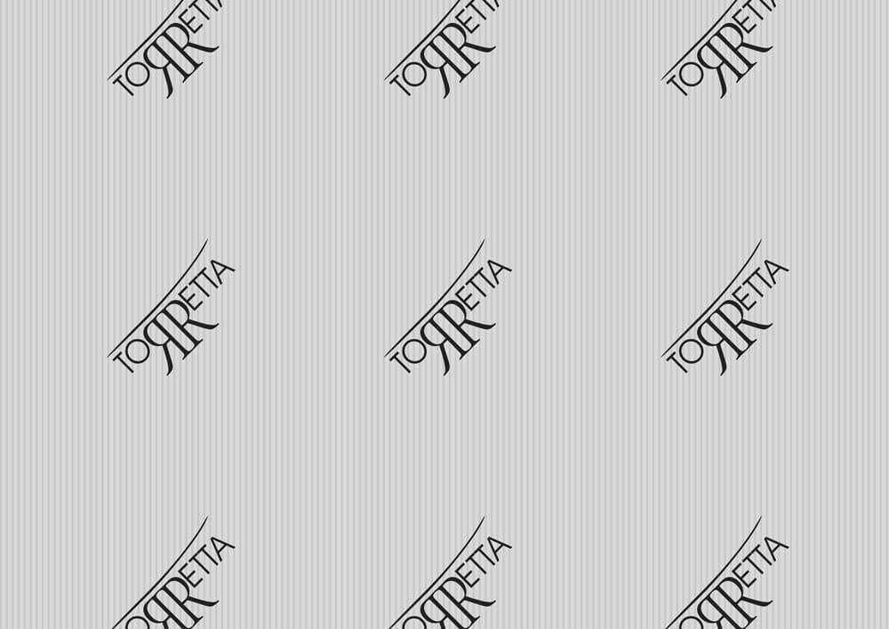 carta metallizzata per imballaggio prodotti personalizzata con logo TORRETTA