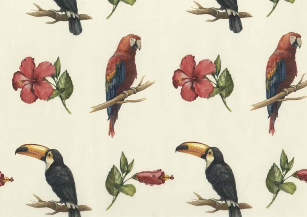 Bespoke gift wrapping paper with logo BIRDS